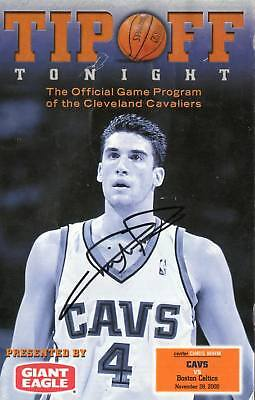 Signed Cavs Chris Mihm Autographed Game Program
