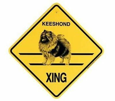Keeshond  Xing Sign Dog Crossing NEW