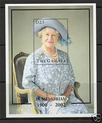 Gambia 2002 Queen Mother Commemeration MS MNH