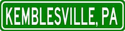 KEMBLESVILLE, PENNSYLVANIA  City Limit Sign - Aluminum