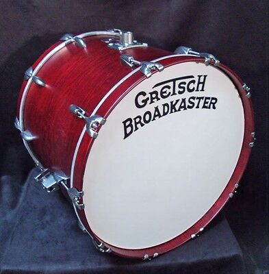 "Gretsch USA NOS Broadkaster 18 x 22 Bass Drum Satin Rosewood Lacquer 22"" Kick"