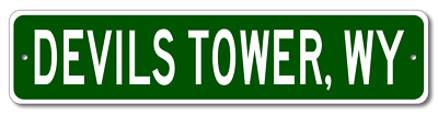DEVILS TOWER, WYOMING  City Limit Sign - Aluminum