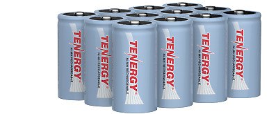 Tenergy 12PCS C Size 1.2V 5000mAh High Capacity NiMH Rechargeable Batteries Cell