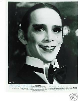 Joel Grey signed photo/still from Cabaret-Best Supporting Actor Win Cabaret