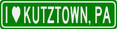 I Love KUTZTOWN, PENNSYLVANIA  City Limit Sign