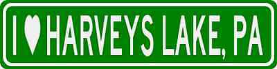I Love HARVEYS LAKE, PENNSYLVANIA  City Limit Sign