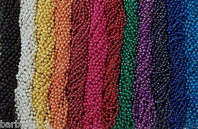"720 Color Choice Mardi Gras Beads Necklaces Party Favors New 7mm 33"" Full Size"