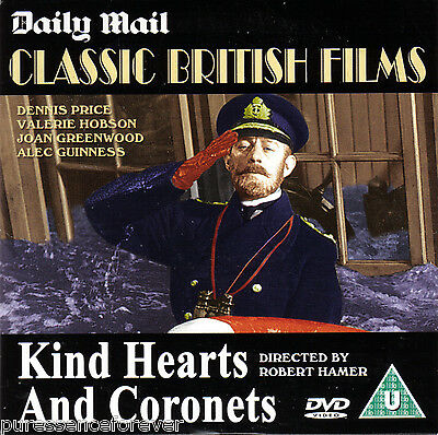 KIND HEARTS AND CORONETS (Daily Mail R2 DVD) (Alec Guinness/Dennis Price)