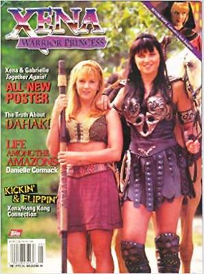 Xena Official Topps Magazine - Gabrielle Cover # 4B + 2 Posters