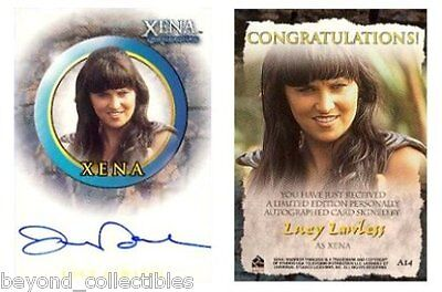 Xena Season 6 Autograph Card - Lucy Lawless - Spartacus A14