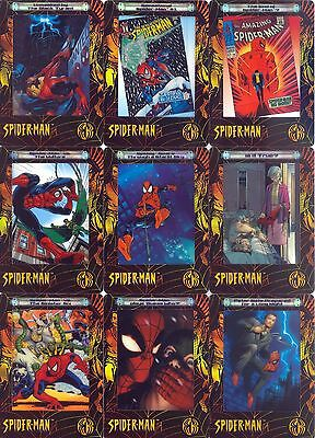 Spider-Man Filmcardz 2002 Artbox Holofoil Insert Card Set Ph1 To Ph9 Marvel Ma