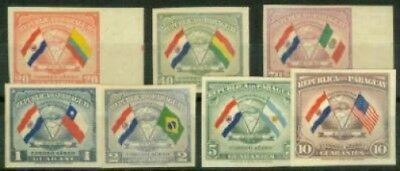 Paraguay 1945 Flags set imperf