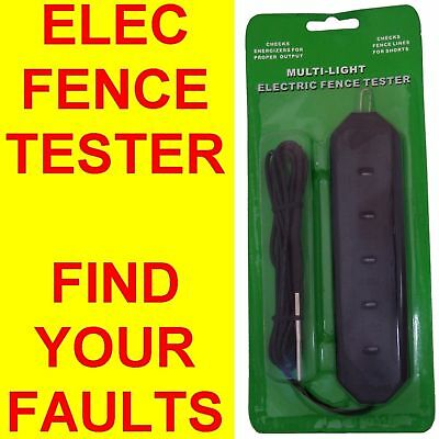 Electric Fence Tester Voltage Level Volt Find Faults