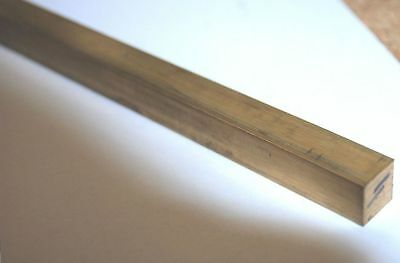 "12"" / 300 Mm Long Brass  Bar Rod 1/2""  Square Cz121 From Chronos"