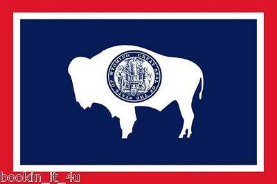 ***wyoming Vinyl State Flag Decal / Sticker***