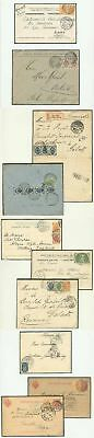 Russia ST. PETERSBURG TOWN POST 1903-4 covers/cards x10