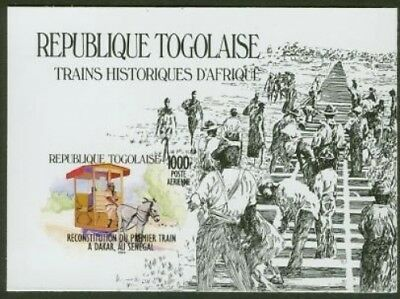 Togo 1984 Locomotives 1000fr SS glossy proof