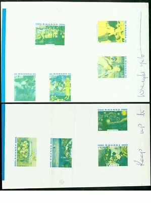 Rwanda 1980 Impressionists COMPOSITE PROOF SHEETS