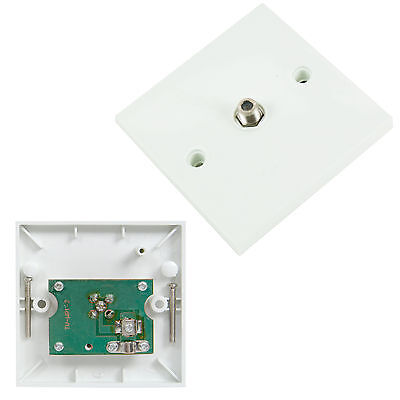 Single F-Connector Wall Outlet Face Plate - Sky+ Virgin Satellite Box Coax Screw