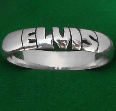 ELVIS PRESLEY,name STERLING SILVER Ring,ANY SIZE