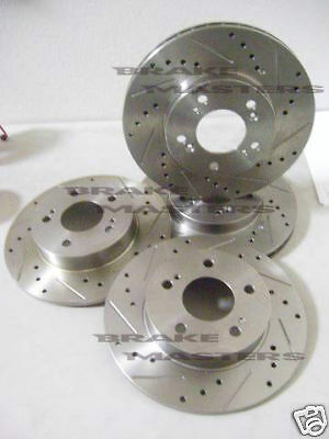 86-92 Toyota Supra MK3 F+R Drilled Slotted Brake Rotors