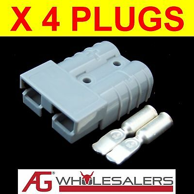 4 x ANDERSON STYLE PLUG CONNECTOR AUTO ELECTRIC 50 AMP 50a