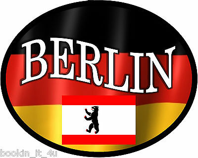 ***oval Berlin Germany Vinyl Flag Decal / Sticker***