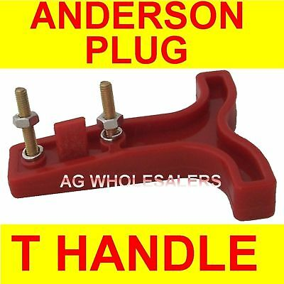 T HANDLE - ANDERSON PLUG CONNECTOR 50 AMP DUAL BATTERY 50a