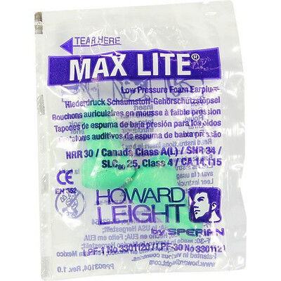 20 Pairs of Howard Leight Max Lite Ear Plugs (FREE UK P&P)
