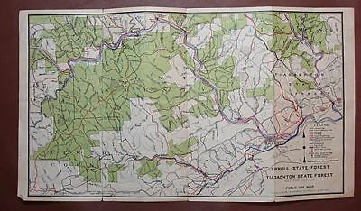1939 Pa Public Use Map Sproul Tiadaghton State Forests 12 95 Picclick