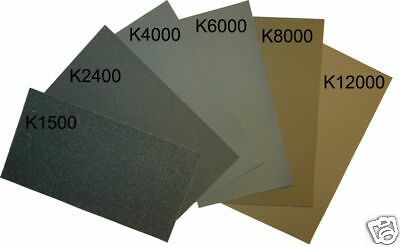 Micro-Mesh Finishing Sheet, 6 sheets 1500- 12000, extra fine, cushioned abrasive