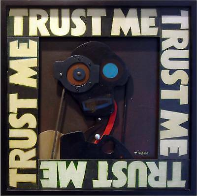 TRUST ME by TPMcKEE - Modern Abstract Original 3D Wood Wall Art Painting Picasso