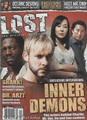 Lost Official Magazine - Cover Charlie - Mr Eko -Sun & Jin # 3A + Trading Card