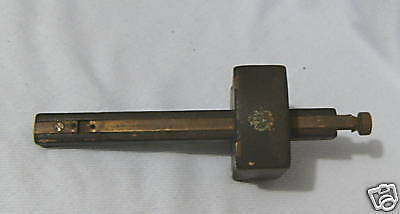 Old Wood & Brass Woodworking Mortise Gauge