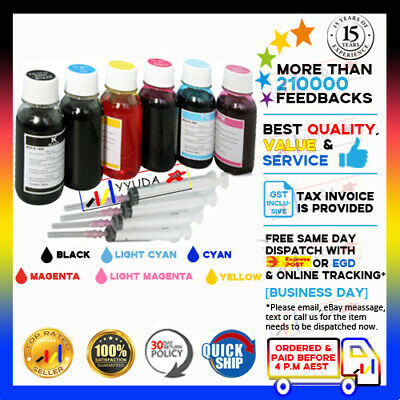 6x100ml REFILL INK for ANY EPSON PRINTER CISS KIT UNIT