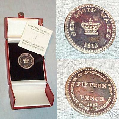 1993 Commemorative Silver 15 Pence Dump Medal