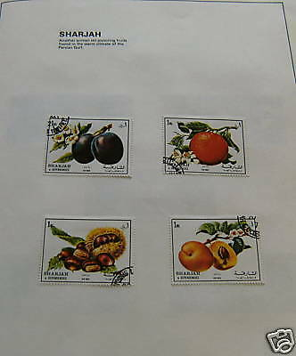 Stamp Set - Sharjah , Fruits Of The Persian Gulf