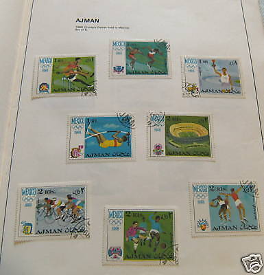 Stamp Set - Ajman , 1968 Mexico Olympic Games