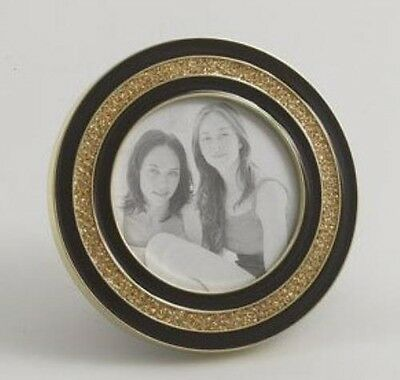 Black & Gold Round Picture Frame Photo 3x3 - 11149
