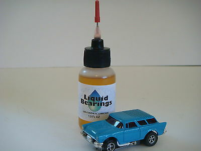 Liquid Bearings, SUPERIOR slot car oil for vintage HO-scale, PLEASE READ