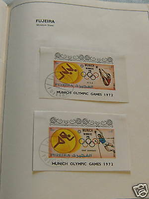 Two Stamp Minature Sheets - Fujeira, 1972 Olympics