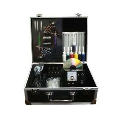 Full Deluxe Tattoo Kit/ 2 Guns/Machine,Needles,Ink,Tips