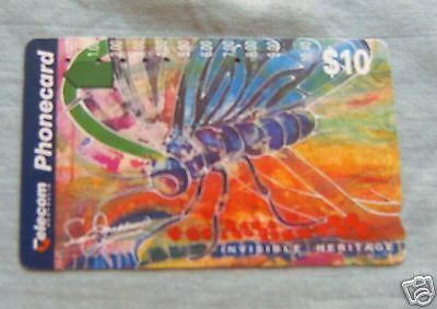 Insects  Invisible Heritage $10  Australian Phonecard