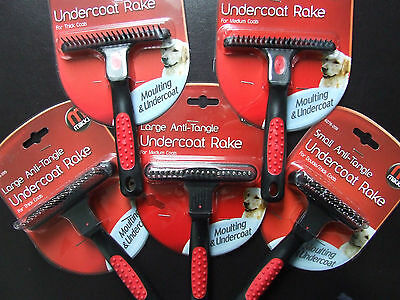 Mikki Anti-Tangle Undercoat Rake / Brush To Remove Thick Moulting Dog Coat / Fur