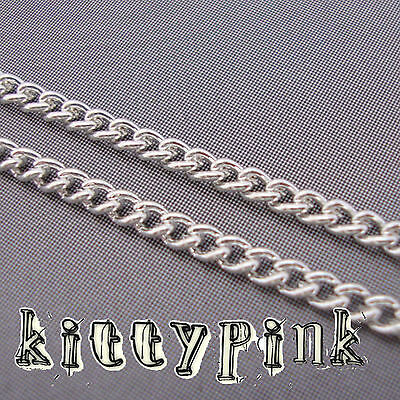 2 Metres Silver Plated Chain 3 x 2mm NICKEL FREE