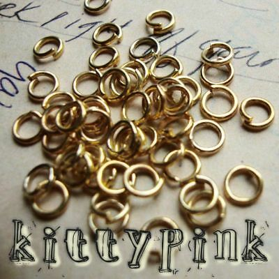 400 4mm Gold Plated Jumprings Open Jump Rings