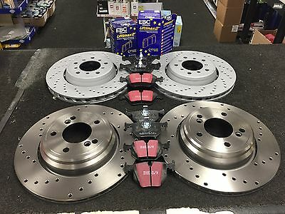 Brake Disc Front Rear Cross Drilled Ebc Brake Pads Front Rear For Bmw M3 E46