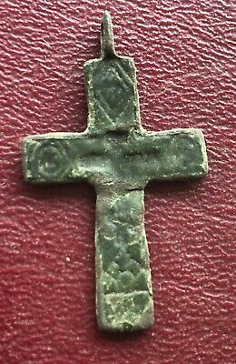 Authentic Antique 18th-19th Century Russian Orthodox Bronze Cross   U5-2