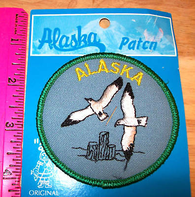 Embroidered Alaska Patch - Arctic Terns