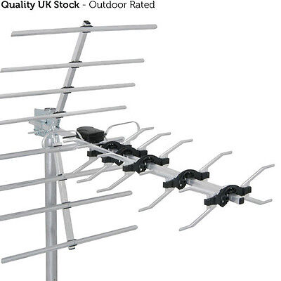 32 Element High Gain Digital TV Aerial -UHF Wideband Outdoor Freeview HD Antenna